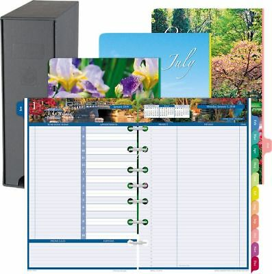 Garden Path 2-Page-Per-Day Planner Refill with Storage Desk Size -