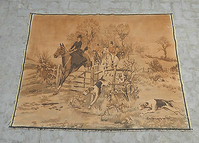 Large Vintage French Beautiful Hunting Scene Tapestry 165x126cm (A602)