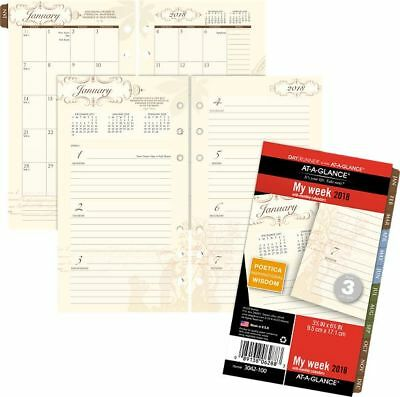At-A-Glance Day Runner Poetica Weekly-Monthly Planner Refill Size 3 - Loose-Leaf