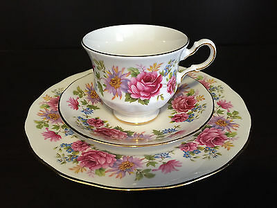 VINTAGE! 3PC Set Queen Anne Serenade (8597) ~ Cup & Saucer & Plate