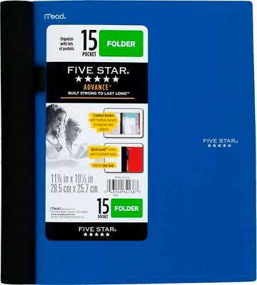 Five Star Advance 15-Pocket Folder - Folders