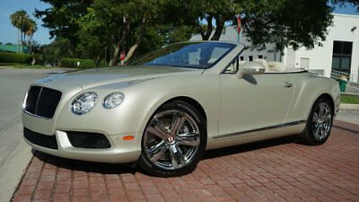 2013 Bentley Continental GT GTC NAV BACKUP CAM CHROME WHEELS LOADED LIKE NEW!! $214,710 MSRP WHITE SAND TWO TONE INTERIOR SUPER LOW RESERVE DONT MISS THIS ONE!