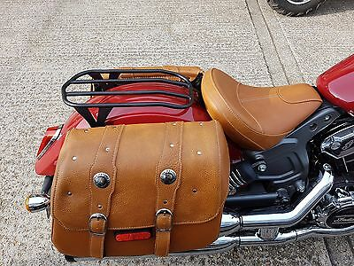 Indian Scout & Sixty Solo Luggage Rack Black by Moore Speed Racing