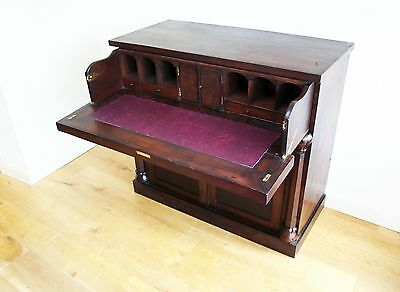 Mahogany Secretaire Chest with Fitted Drawer and Cupboard
