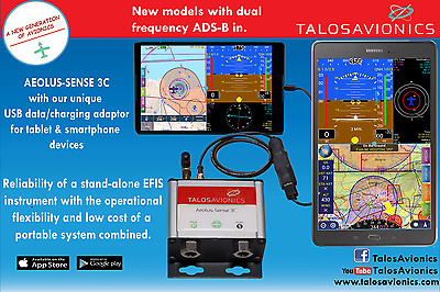 Aeolus Sense 3C from Talos Avionics ADAHRS for Apple and Android devices Wired