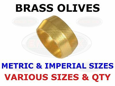 Brass Olive Barrel Plumbing Olives Compression Quality Copper Pipe Gas Water Air