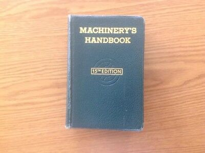 MACHINERY'S HANDBOOK -Ind., press, '57 15th, thumb ind, slide rule / math tables