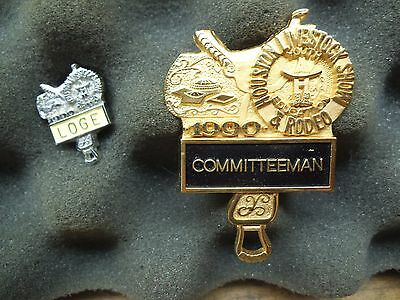 Committeeman Badge Pin 1990 Houston Livestock Show & Rodeo HLSR Texas