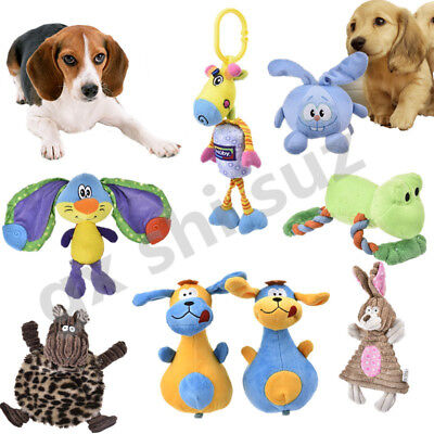 Funny Pet Puppy Plush Rabbit Monkey Squeaker Squeaky Sound Dog Chew Play Toys