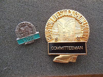 Committeeman Badge Pin 1991 Houston Livestock Show & Rodeo HLSR Texas
