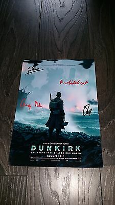 "Dunkirk Pp Signed 12""x8"" A4 Photo Poster Fionn Whitehead Tom Hardy"