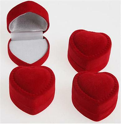 New Precision 10X Romantic Velet Red Heart Ring Gift Boxes Jewelry Supplies FYUS