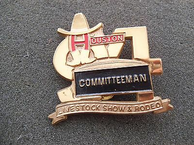 Committeeman Badge Pin 1994 Houston Livestock Show & Rodeo HLSR Texas