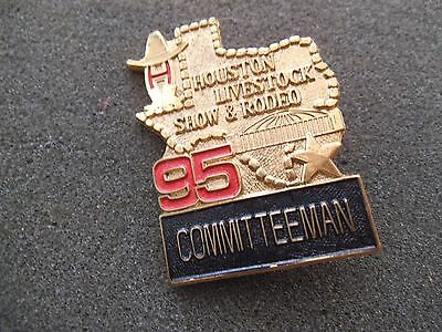 Committeeman Badge Pin 1995 Houston Livestock Show & Rodeo HLSR Texas