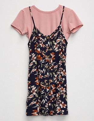 Tillys Girls Size Small Romper Floral Print NWT