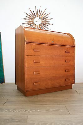 DELIVERY £50 Retro Mid Century Danish Teak Desk Bureau