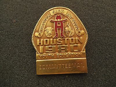 Committeeman Badge Pin 1980 Houston Livestock Show & Rodeo HLSR Texas
