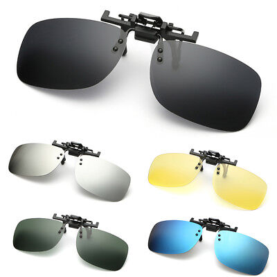 Polarized Clip On Flip Up Sunglasses Shades Clip for Myopia Glasses Driving