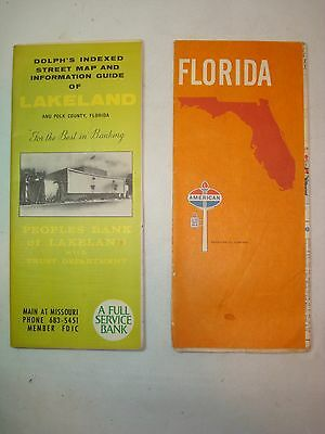 Two Old Florida Road Maps
