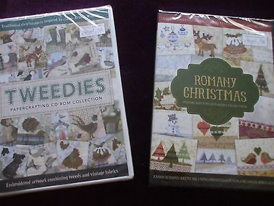 Crafter's Companion :- Tweedies & Romany Christmas Papercrafting C.D. Roms