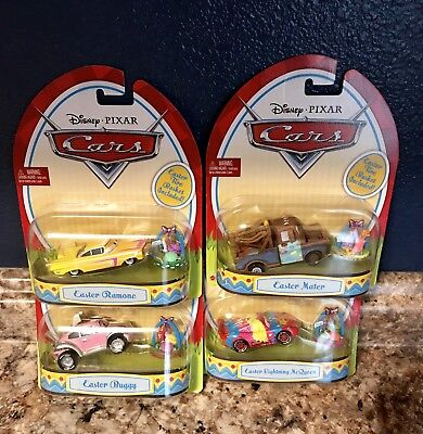 Disney Pixar Cars Limited Easter Edition Set Of (4) Diecasts