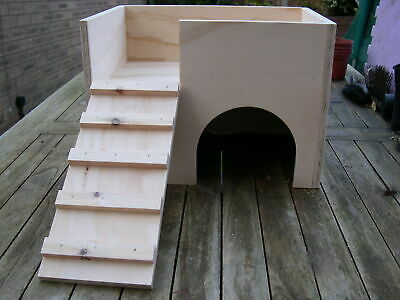"""15"""" x 10"""" x 10"""" Guinea Pig / Small Animal 2 Storey Play House / Hide / Shelter"""