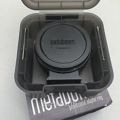 Ex+condition - METABONES CANON EF LENS TO SONY E MOUNT - MARK IV, IN BOX 366