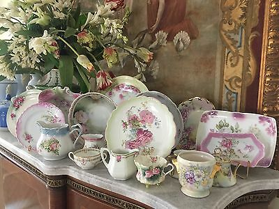 Sweet Small Antique Pitcher, Pink Roses, Marked Bavaria