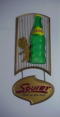 SQUIRT Never an after Taste VINTAGE 1961 CELLULOID Soda SIGN