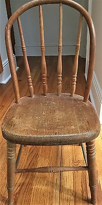 Antique Child's Wood Chair In Good Condition