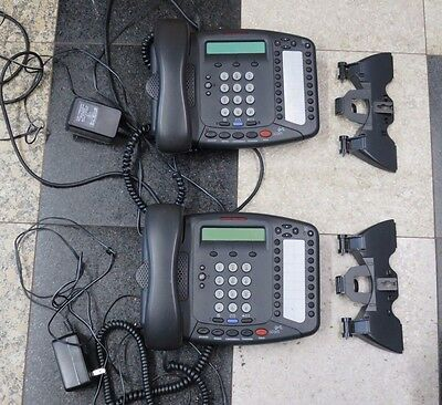 LOT 2 3Com 3C10402A NBX Business Phone IP VoIP Display Model 3102 + AC ADAPTER