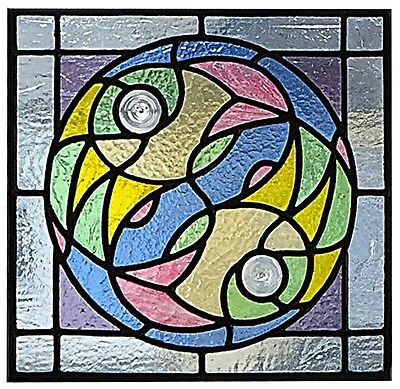 Stained glass sun catcher panel