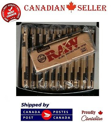 1 pc RAW 1 1/4 size CLASSIC Rolling Paper Pack Metal Storage Cases tins