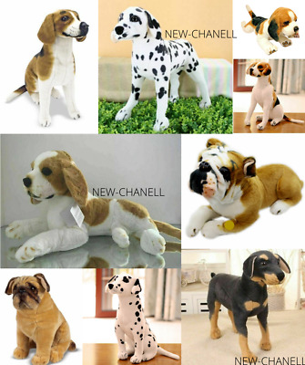 New Cute Pug Dalmatian Rottweiler Dog Soft Plush Cuddly Toy Real Look Uk Seller