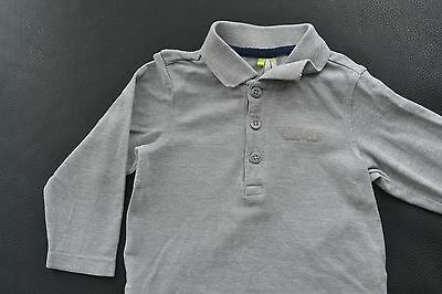 Polo - T-shirt longues manches gris ORCHESTRA - taille 81 cm/18 mois