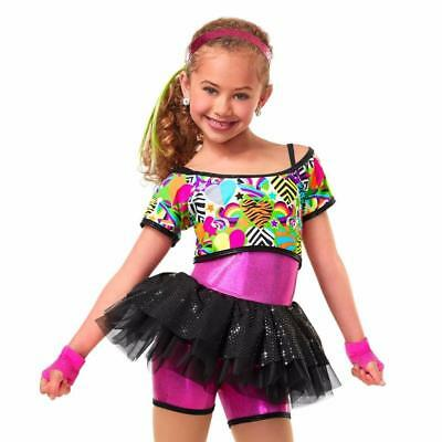 Dance Costume Medium Child Hip Hop Tutu Jazz Sassy Solo Competition Pageant