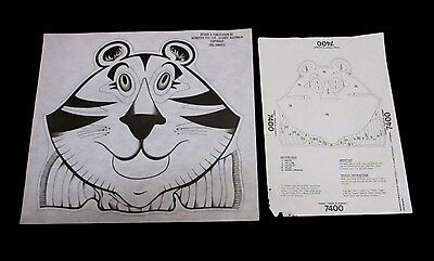 Hobbytex - Pre-Shaded Terry Tiger Placemat #7400 + Instructions (Unworked)