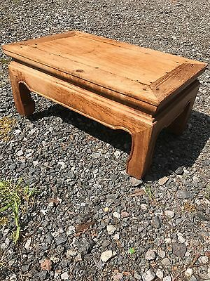 Old oak foot stool
