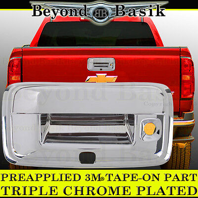 2014-2019 CHEVY COLORADO Chrome Tailgate Handle Cover Rear W/KEYHOLE W/CAM HOLE