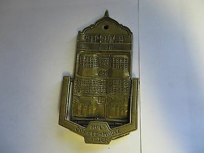 """MOL'S COFFEE-HOUSE EXETER"" Brass Antique English Door Knocker"