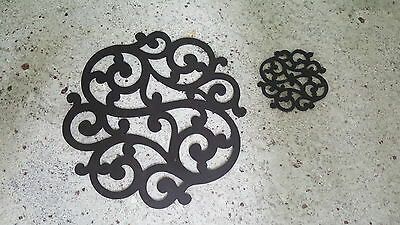 Placemats/coasters sets of 4 handmade wood stained black great table decoration