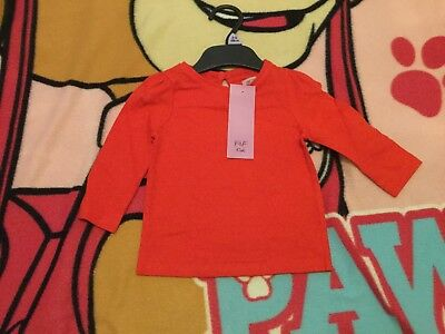 Baby Girls Red Top - Age 3-6 Months - Brand New