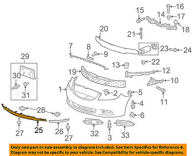 Front Genuine GM 20897110 Bumper Fascia Seal