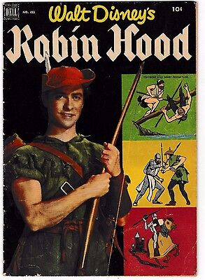 FOUR COLOR #413 (VG/FN) ROBIN HOOD Golden-Age Disney Movie 1955 Dell Comic