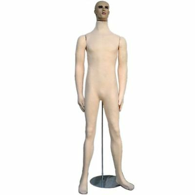 MN-406 Soft Flexible Bendable Male Body Mannequin Form w/ Realistic Face