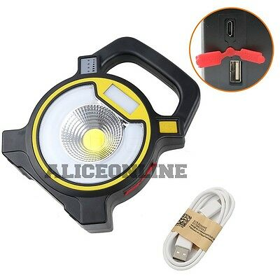 COB LED Work Light Torch Li-Ion Rechargeable Cordless Inspection Lamp 2 IN 1
