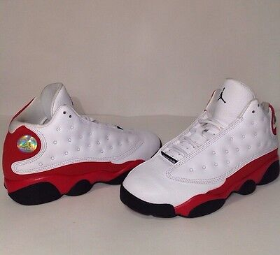 Nike Air Jordan Retro XIII (13) CHERRY Boys Youth Shoes Size 3Y KIDS White Red