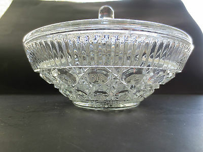 Indiana Glass Windsor Royal Brighton Covered Candy Dish Button and Cane