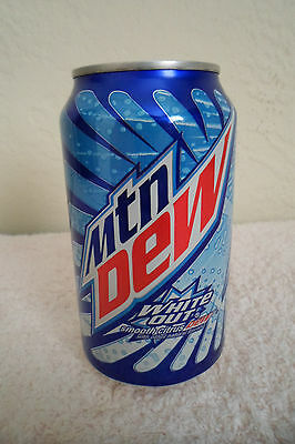 Mountain Dew White Out Collectible 12oz Can Limited Design Advertising Mtn Dew