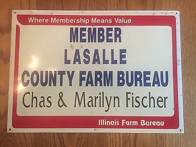 Illinois LaSalle County Farm Bureau Member Sign
